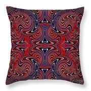 Americana Swirl Design 3 Throw Pillow by Sarah Loft