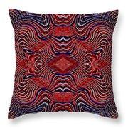 Americana Swirl Design 7 Throw Pillow by Sarah Loft