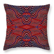 Americana Swirl Design 9 Throw Pillow by Sarah Loft