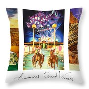 America's Great Venues Throw Pillow by Joshua Morton