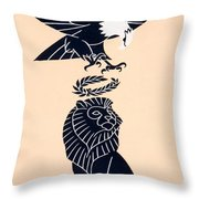 America's Tribute To Britain Throw Pillow by Frederic G Cooper