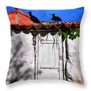 Amigos Negros Throw Pillow by Skip Hunt