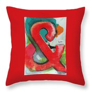 Ampersand Love Throw Pillow by Linda Woods
