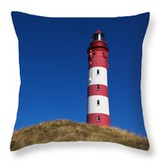 Amrum Lighthouse Throw Pillow by Angela Doelling AD DESIGN Photo and PhotoArt