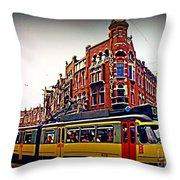 Amsterdam Transportation Throw Pillow by John Malone