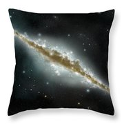 An Artists Depiction Of A Large Spiral Throw Pillow by Marc Ward
