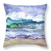 AN ODE TO THE SEA Throw Pillow by Carol Wisniewski