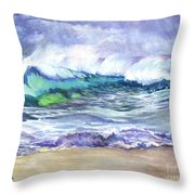 An Ode To The Sea Throw Pillow by Carol Wisniewski