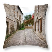 An Old Village Street Throw Pillow by Olivier Le Queinec