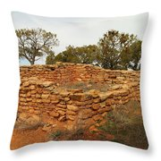 Anasazi Ruins Southern Utah Throw Pillow by Jeff Swan