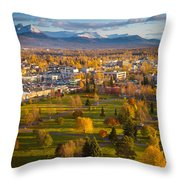 Anchorage Landscape Throw Pillow by Inge Johnsson