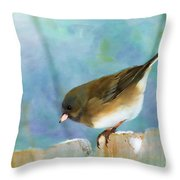 And Down I Go Throw Pillow by Betty LaRue