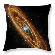 Andromeda Galaxy Throw Pillow by Adam Romanowicz