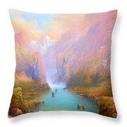 Anduin The Great River Throw Pillow by Joe  Gilronan