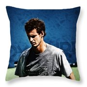 Andy Murray Throw Pillow by Nishanth Gopinathan