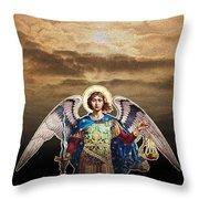 Angel Throw Pillow by David Davies