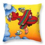 Angel Flight Throw Pillow by Sarah Batalka