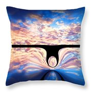 Angel In The Sky Throw Pillow by Alec Drake