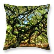Angel Oak 006 Throw Pillow by Lance Vaughn