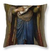 Angels Throw Pillow by John Melhuish Strudwick