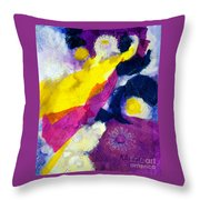 Angels Surround Me Throw Pillow by Kathy Braud