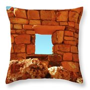 Angel's Window Throw Pillow by Kathleen Struckle