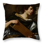 Angels With Attributes Of The Passion Throw Pillow by Simon Vouet