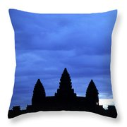 Angkor Wat Sunrise 01 Throw Pillow by Rick Piper Photography