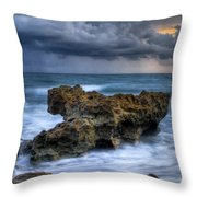 Angry Throw Pillow by Debra and Dave Vanderlaan