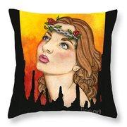 Anima Sola Throw Pillow by Nora Blansett