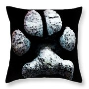 Animal Lovers - South Paw Throw Pillow by Sharon Cummings