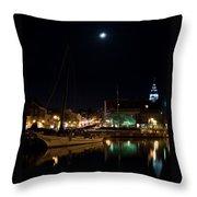 Annapolis Maryland Panorama Throw Pillow by Benjamin Reed