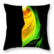 Antelope Canyon Abstract Throw Pillow by Aidan Moran