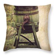 Antique Butter Churn Throw Pillow by Linsey Williams