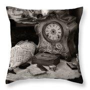 Antique Dresser I Throw Pillow by Maria Angelica Maira