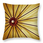Antique Farm Wheel Throw Pillow by Carolyn Marshall