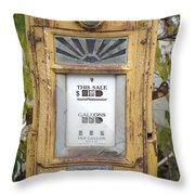 Antique Gas Pump Throw Pillow by Peter French