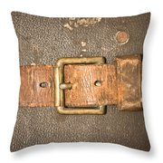 Antique Strap Throw Pillow by Tom Gowanlock