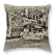 Antique Train Throw Pillow by Bill Wakeley