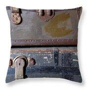 Antique Trunks 5 Throw Pillow by Anita Burgermeister
