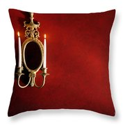 Antique Wall Sconce Throw Pillow by Olivier Le Queinec
