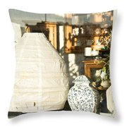 Antiques Throw Pillow by Tom Gowanlock