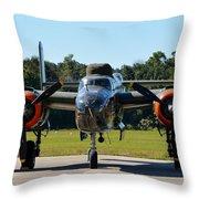 Apache Princess Throw Pillow by Matt Abrams
