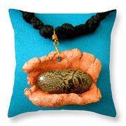 Aphrodite Melainisnecklace Throw Pillow by Augusta Stylianou