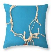 Aphrodite Pandemos Necklace Throw Pillow by Augusta Stylianou