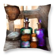 Apothecary - Oleum Rosmarini  Throw Pillow by Mike Savad
