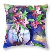 Apple Blossoms Throw Pillow by Sherry Harradence