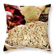 Apple Crisp Throw Pillow by Stephanie Frey