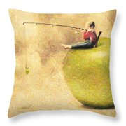 Apple Dream Throw Pillow by Taylan Soyturk