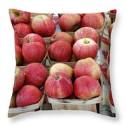 Apples In Small Baskets Throw Pillow by Paul Velgos